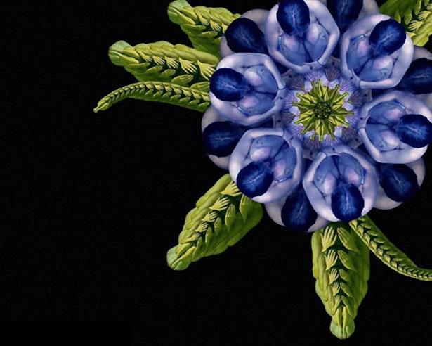 цветы из тел людей