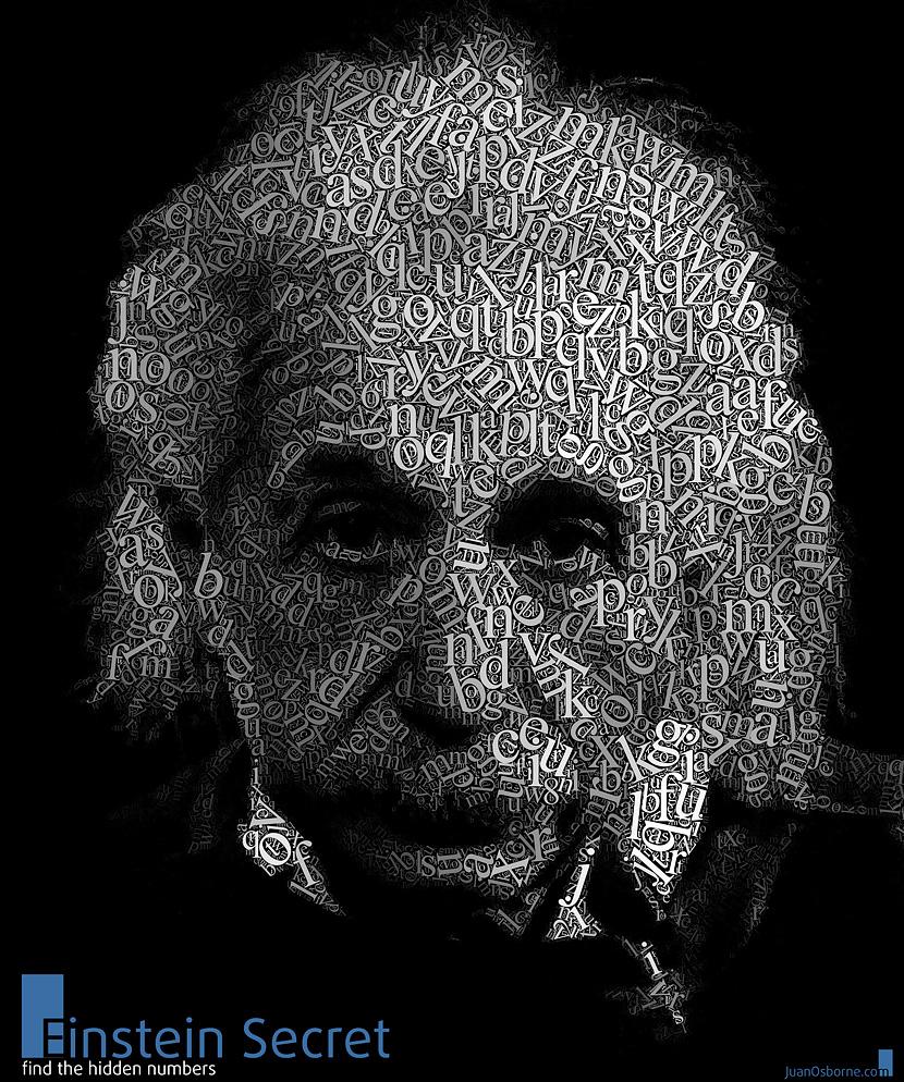 текстовый портрет Эйнштейна