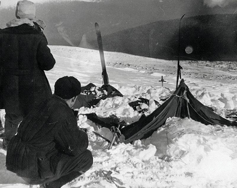 перевал дятлова. обнаружение палатки
