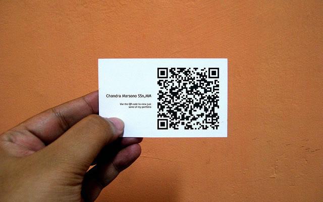 QR код на визитке