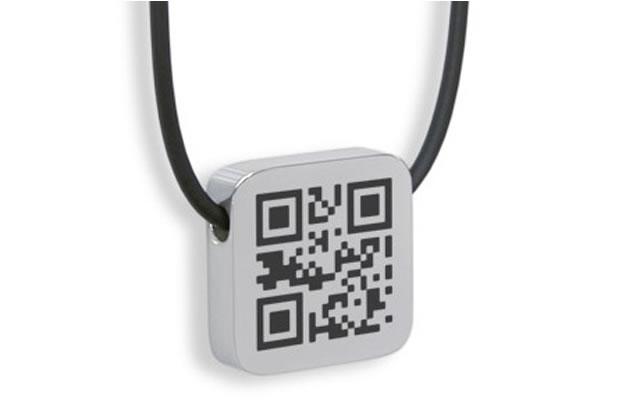 QR код на кулоне