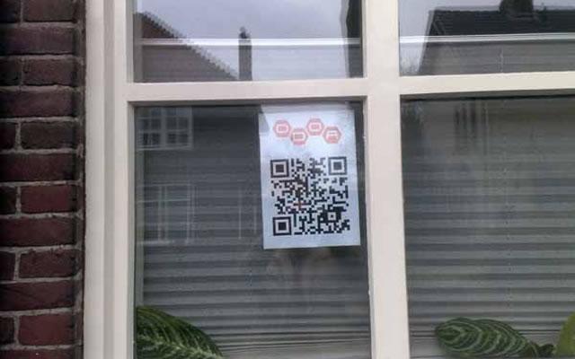 QR код в окне