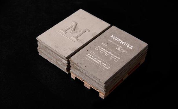 бетонная визитка