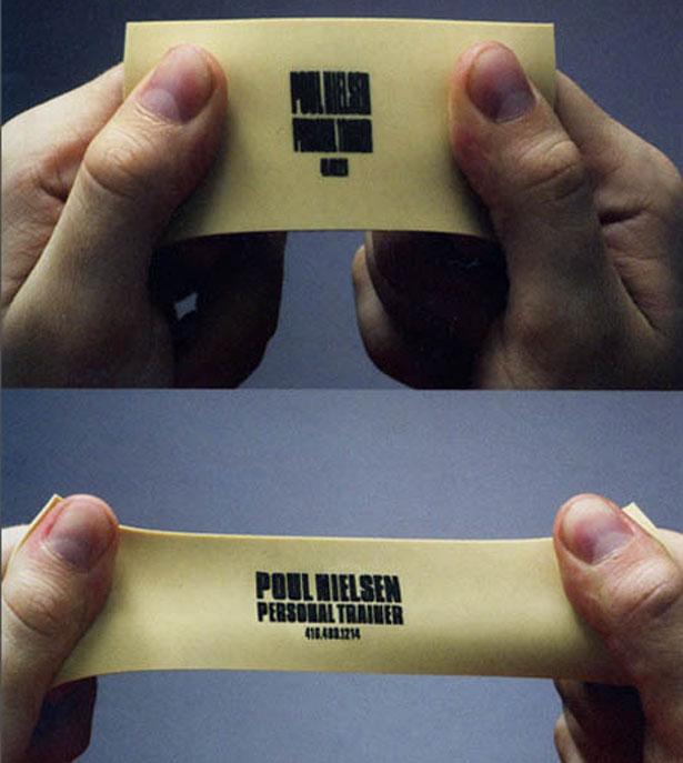 Резиновая визитная карточка