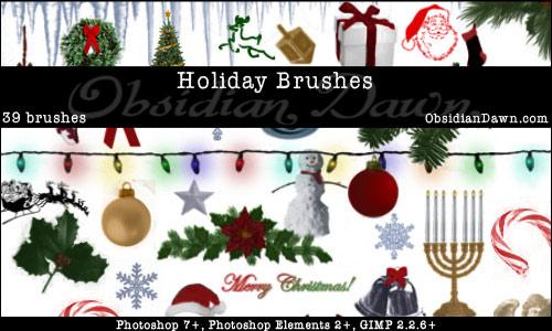 season photoshop brushes