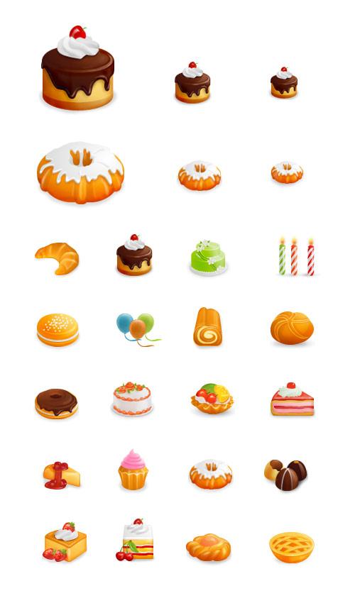 иконки с праздничной едой
