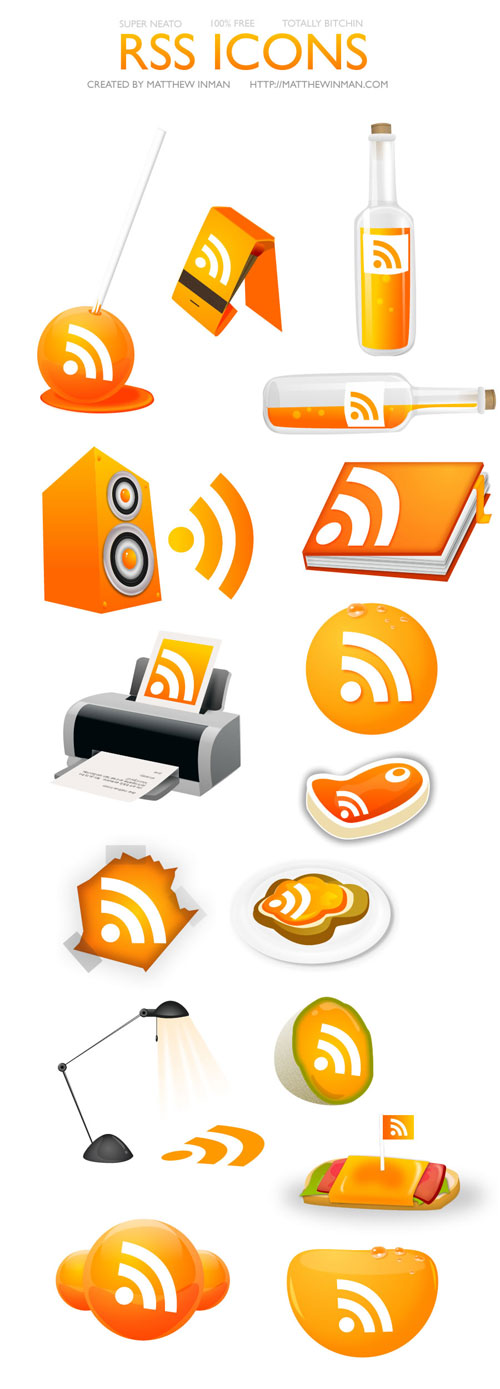 rss free icons
