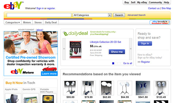 ebay new design