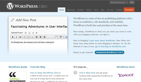 wordpress new design