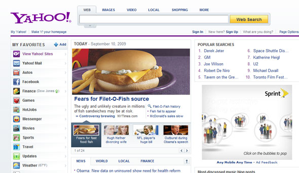 yahoo new design