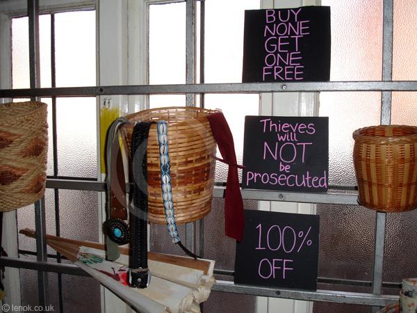 бесплатный магазин в ноттингеме