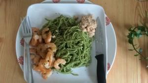 спагетти из зеленой чечевицы